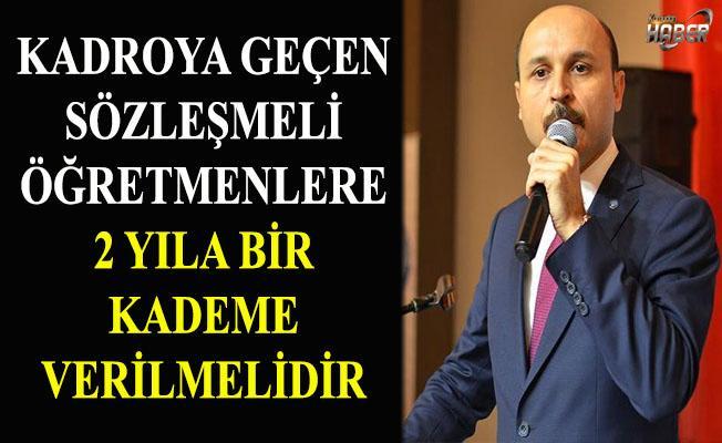 Türk Eğitim Sen'den kadroya geçen öğretmenler için kademe talebi