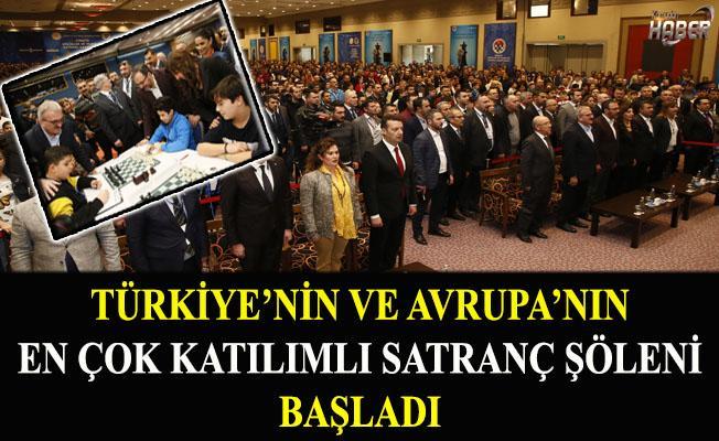Türkiye'nin En Büyük Satranç Organizasyonu Başladı