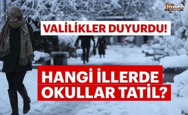 12 Şubat Çarşamba Okullara Kar Tatili Olan İller - 16 İL