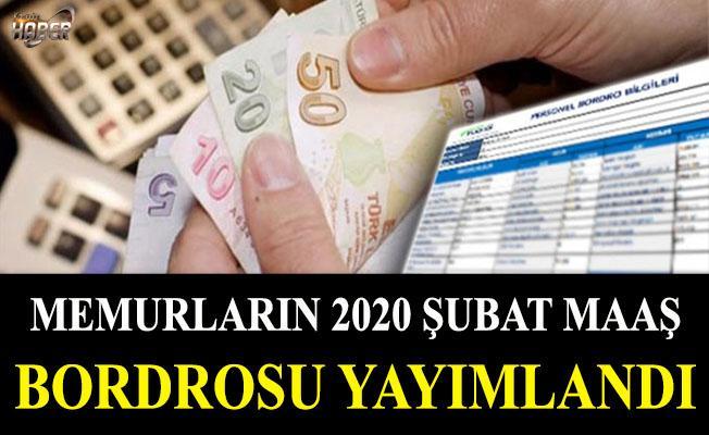 Memurların 2020 Şubat maaş bordrosu yayımlandı
