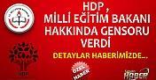 HDP , Milli Eğitim Bakanı Hakkında Gensoru Verdi