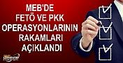 MEB'DE FETÖ VE PKK OPERASYONLARININ RAKAMLARI AÇIKLANDI