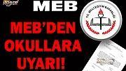 MEB'den uyarı Okul müdürlerinin dikkatine