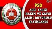 950 YENİ HAKİM VE SAVCI ATAMA DUYURUSU YAPILDI
