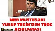 MEB Müsteşarı Yusuf Tekin'den TEOG Açıklaması
