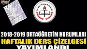 2018-2019 ORTAÖĞRETİM KURUMLARI HAFTALIK DERS ÇİZELGESİ YAYIMLANDI