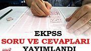 EKPSS soru ve cevapları yayımlandı