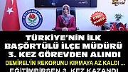 Türkiye'nin ilk başörtülü ille müdürü 3. kez görevden alındı