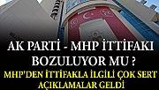 MHP'den AKP'ye çok sert çıkış