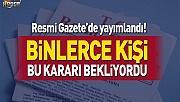10 bin bekçi alımıyla ilgili kararname Resmi Gazete'de yayımlandı