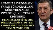 BAKAN ZİYA SELÇUK'U TEBRİK EDİYORUZ