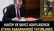 Hakim ve savcı adaylarının atama kararı Resmi Gazete'de yayımlandı