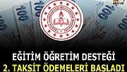 MEB'den Eğitim öğretim destegi 2. taksit ödemeleri için resmi yazı