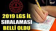 2019 LGS İl sıralaması