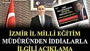 """İzmir İl Milli Eğitim Müdürü """"Bağış parasıyla tatile gittiği"""" iddiasını yalanladı"""