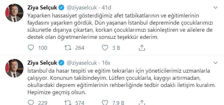Bakan Selçuk'tan İstanbul'daki öğretmenlere teşekkür ile ilgili görsel sonucu